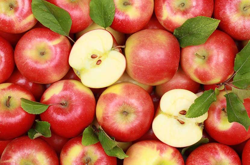La fibra de manzana te ayuda a sentirte más lleno