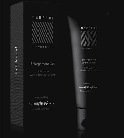 Deeper es un gel fácil de aplicar diseñado para ayudar a mejorar el desempeño sexual masculino