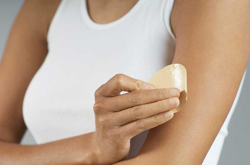 Coloque siempre el parche Sliminazer sobre una piel sana