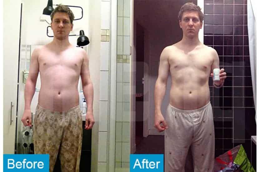Ghislain redujo los niveles de grasa corporal y aumentó la masa muscular con la ayuda de PhenQ