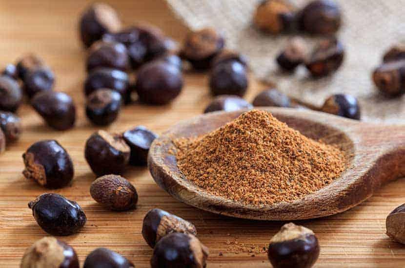 Las semillas de guaraná son ricas en cafeína