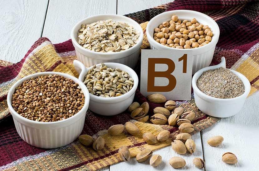 Vitamino B1 daugiausia yra grūduose ir ankštiniuose augaluose.