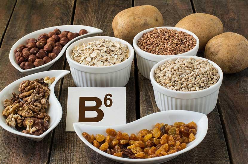 Vitamino B6 natūraliai yra mėsoje, kiaušiniuose, žuvyje ir daržovėse.